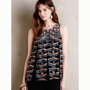 Anthropologie | Kalila | Embroidered Tank | Medium